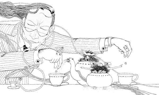 Original Dr. Robert pedal illustration by Klaus Voormann