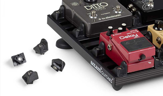 fasteners included with the pedalboard