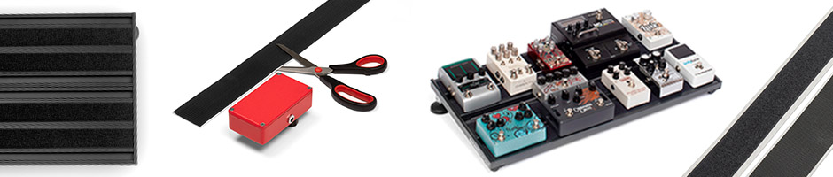 Hook and loop and velcro pedalboards