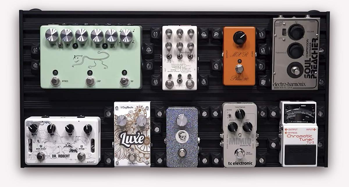 aclam smart track pedalboard s1 full of pedals